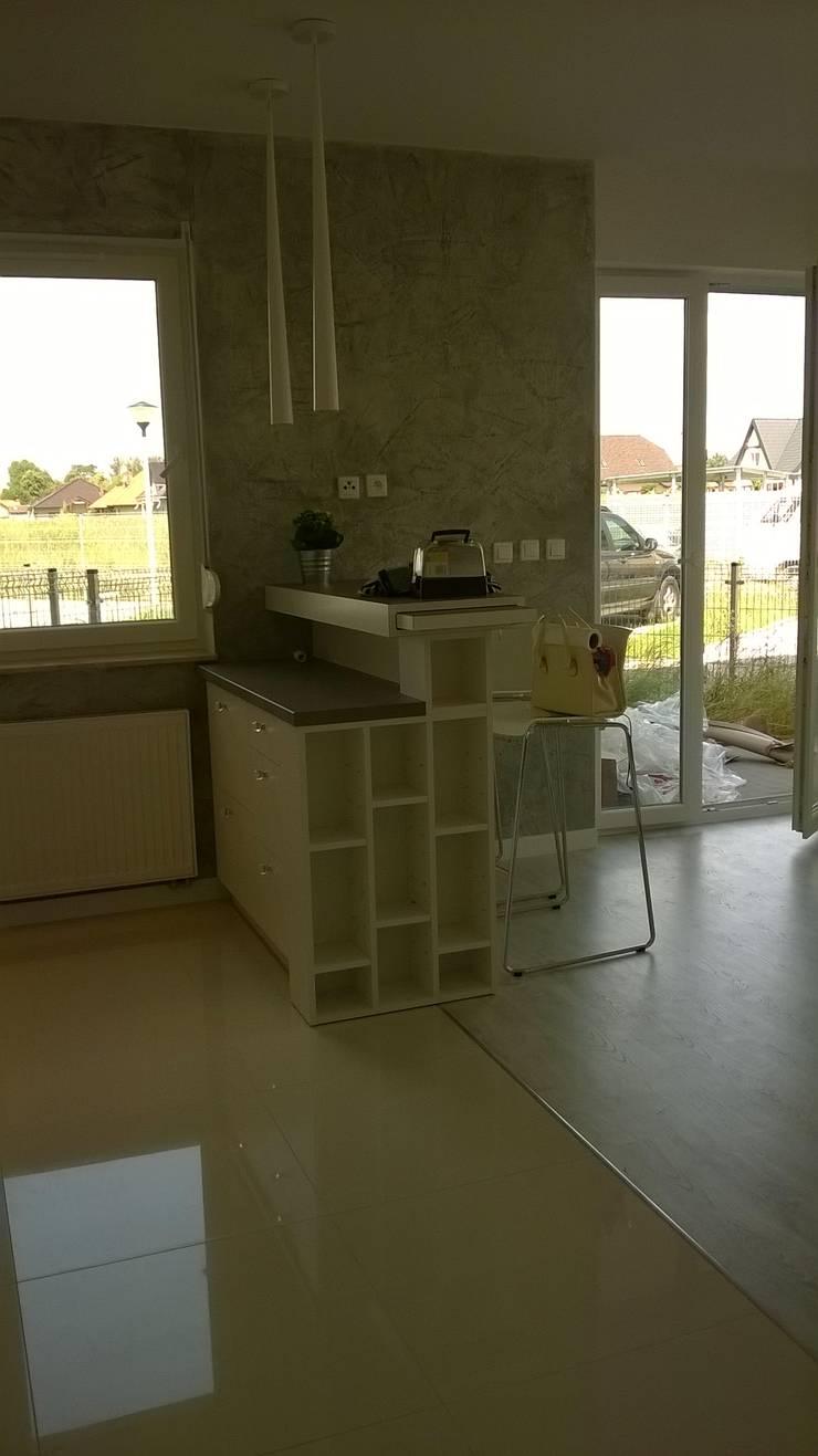 mieszkanie Wrocław: styl , w kategorii Kuchnia zaprojektowany przez Julia Domagała wnętrza,Minimalistyczny