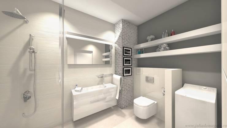 wizualizacja łazienka: styl , w kategorii Łazienka zaprojektowany przez Julia Domagała wnętrza,Minimalistyczny