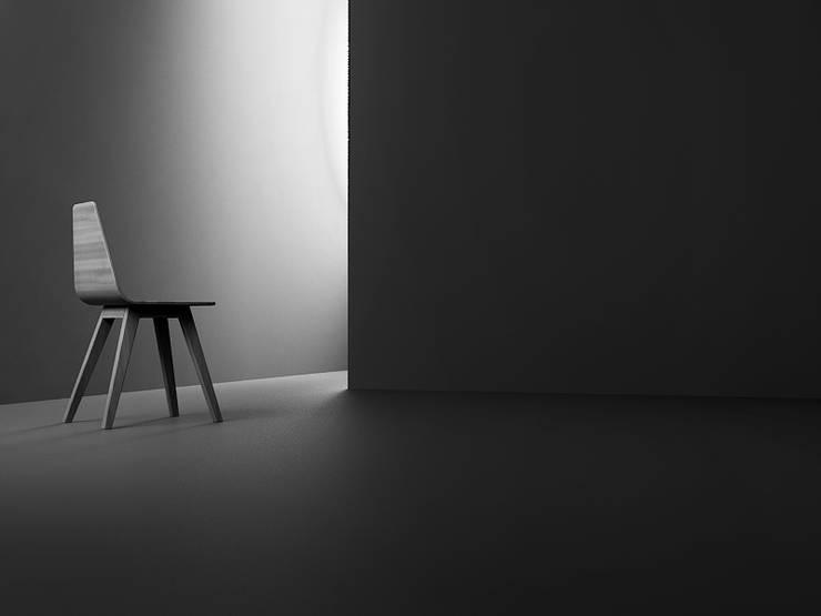 FORM krzesło dębowe: styl , w kategorii  zaprojektowany przez Iwona Kosicka Design,Skandynawski Drewno O efekcie drewna