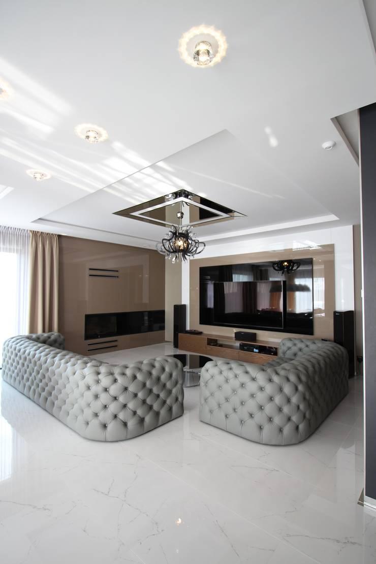 I LOVE EXCLUSIVE DESIGN: styl , w kategorii Salon zaprojektowany przez LOFT ART Izabela Balbus,Nowoczesny