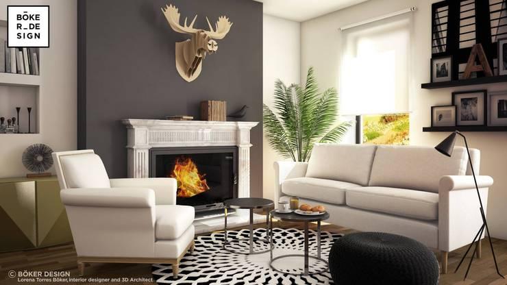 Living room by Böker Design Studio