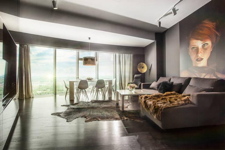 SALON: styl , w kategorii Salon zaprojektowany przez 2kul INTERIOR DESIGN,Nowoczesny Drewno O efekcie drewna