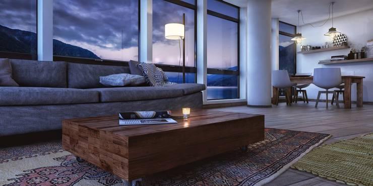 Proyecto Nahuel Huapi : Livings de estilo moderno por Let´s Go