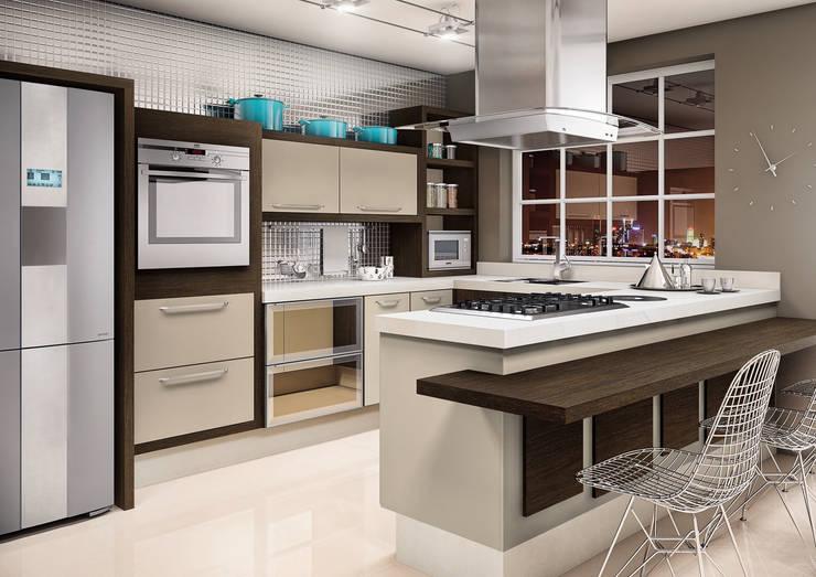 Cocina de estilo  de Fabrik Ambientes Planejados