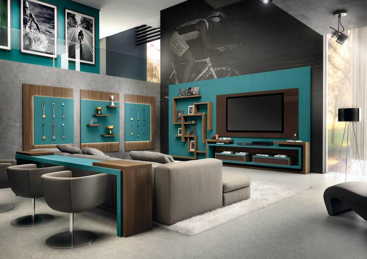 Home Sala:   por Fabrik Ambientes Planejados,Moderno MDF