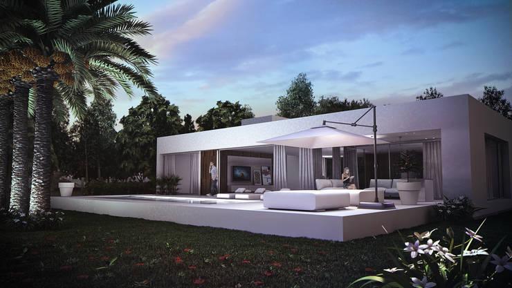 Casa C Puerto Roldan: Casas de estilo  por VISMARACORSI ARQUITECTOS