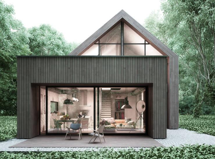Casas de estilo  por Majchrzak Pracownia Projektowa