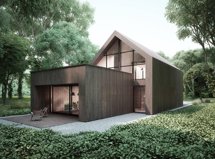 Projekty domów - House x06: styl , w kategorii Domy zaprojektowany przez Majchrzak Pracownia Projektowa