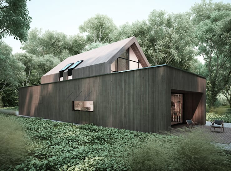 moderne Huizen door Majchrzak Pracownia Projektowa