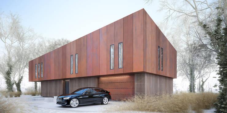 Projekty domów - House x07: styl , w kategorii Domy zaprojektowany przez Majchrzak Pracownia Projektowa