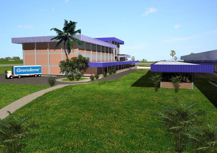 Grendene Teixeira de Freitas: Espaços comerciais  por Aurion Arquitetura e Consultoria Ltda