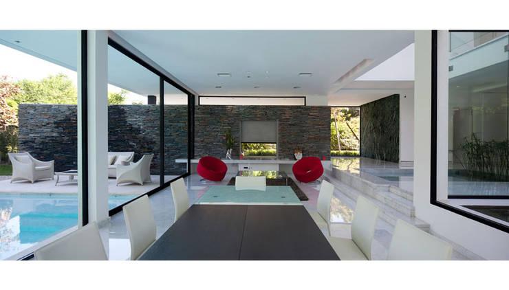 CASA CARRARA: Jardines de estilo  por Remy Arquitectos,Moderno
