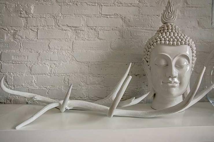 DOM 1: styl , w kategorii Ściany zaprojektowany przez 2kul INTERIOR DESIGN,Nowoczesny Cegły