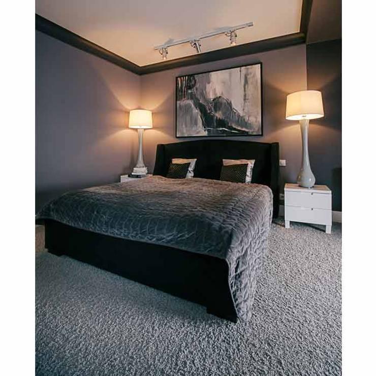 DOM 1: styl , w kategorii Sypialnia zaprojektowany przez 2kul INTERIOR DESIGN,Nowoczesny Tekstylia Złoty