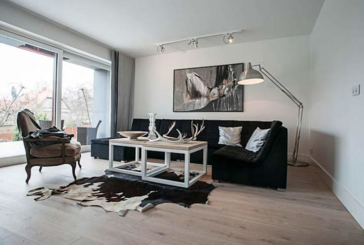 DOM 1: styl , w kategorii Salon zaprojektowany przez 2kul INTERIOR DESIGN,Nowoczesny Drewno O efekcie drewna
