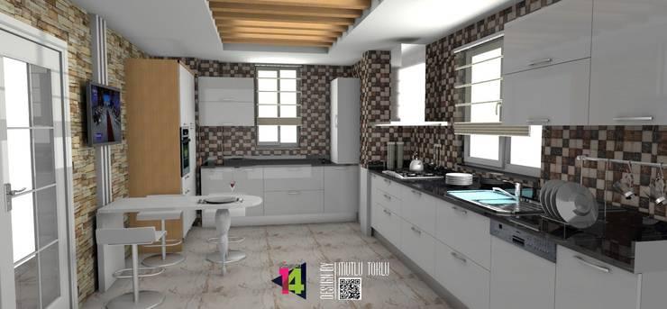 imza decor – akrilik mutfak: modern tarz , Modern Mermer