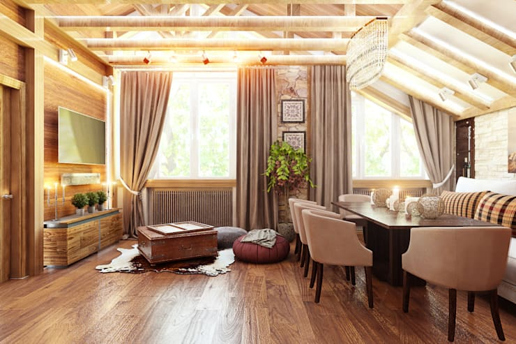 Гостиная: Гостиная в . Автор – Дизайн студия Жанны Ращупкиной