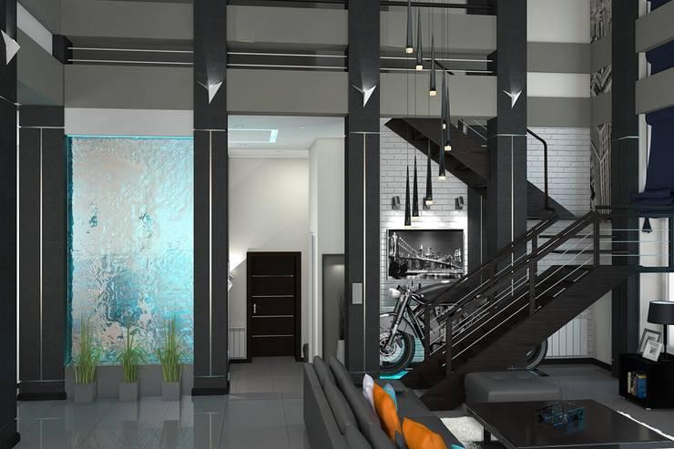 Гостиная: Гостиная в . Автор – Дизайн студия Жанны Ращупкиной, Минимализм