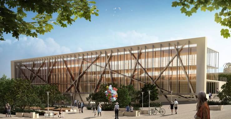 Proyecto Barracas, Universidad: Estudios y oficinas de estilo moderno por Let´s Go