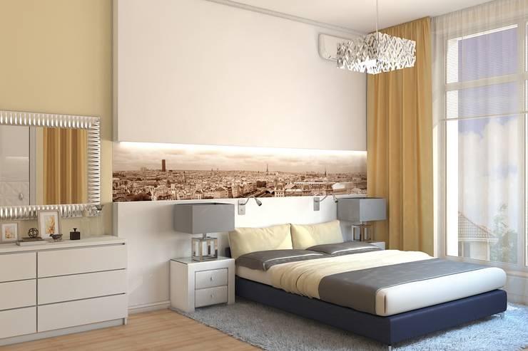 Спальня: Спальни в . Автор – Дизайн студия Жанны Ращупкиной, Минимализм