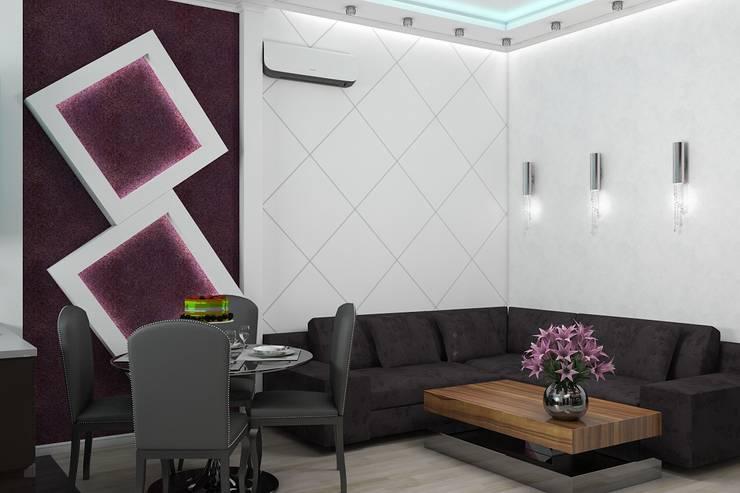 Salas de estilo minimalista por Дизайн студия Жанны Ращупкиной
