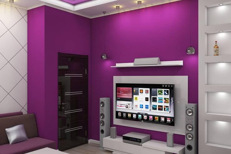 minimalistic Media room by Дизайн студия Жанны Ращупкиной