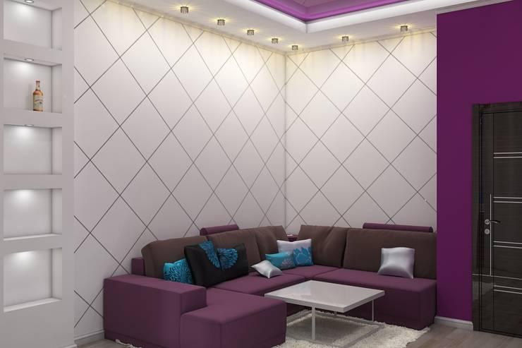 Комната отдыха: Медиа комнаты в . Автор – Дизайн студия Жанны Ращупкиной