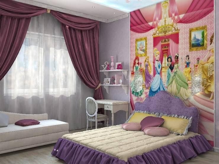 Детская для девочки: Детские комнаты в . Автор – Дизайн студия Жанны Ращупкиной