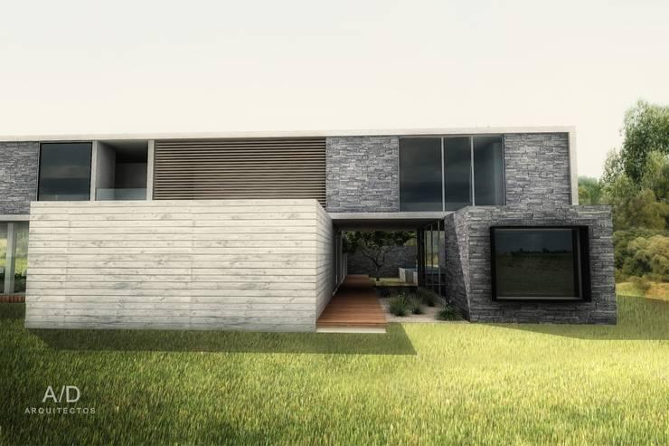 Casa AG: Casas de estilo  por AD ARQUITECTOS