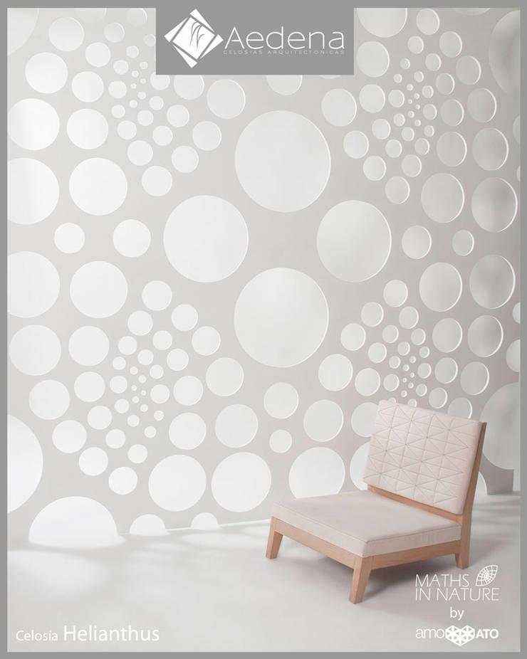 Celosía HELIANTHUS: Paisajismo de interiores de estilo  por Aedena