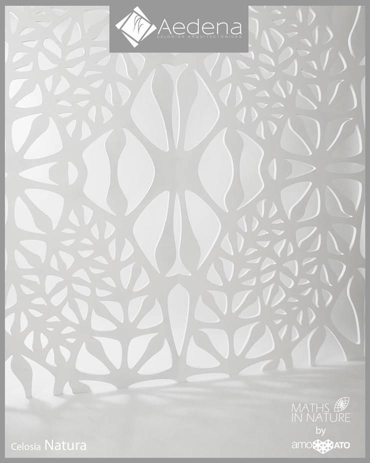 Celosía NATURA: Paisajismo de interiores de estilo  por Aedena