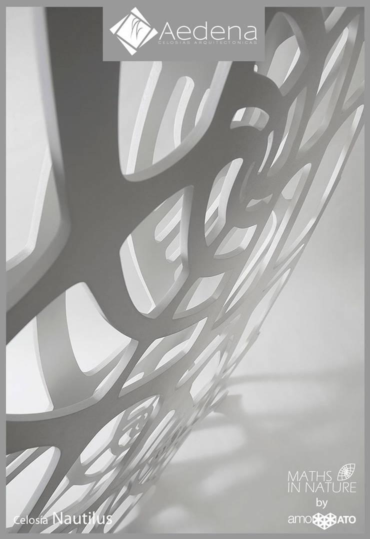 Celosía NAUTILUS: Paisajismo de interiores de estilo  por Aedena