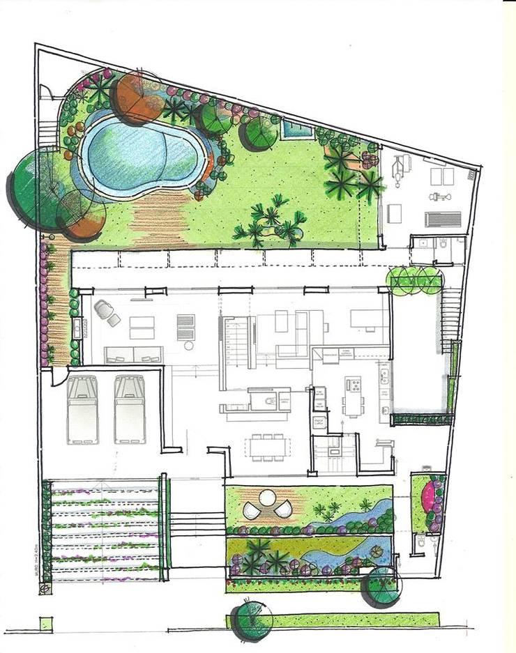 Implantação Geral: Jardins  por HZ Paisagismo