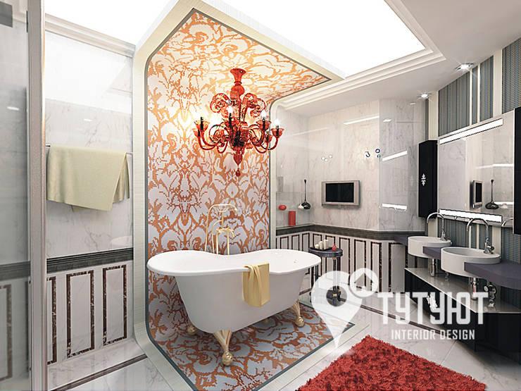 Квартира в ЖК <q>Антарес</q> в центре Екатеринбурга: Ванные комнаты в . Автор – Interior Design Studio Tut Yut