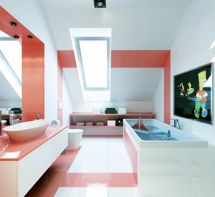 Projekt wykonawczy wnętrz, dom jednorodzinny, Wilczyce: styl , w kategorii Łazienka zaprojektowany przez Majchrzak Pracownia Projektowa