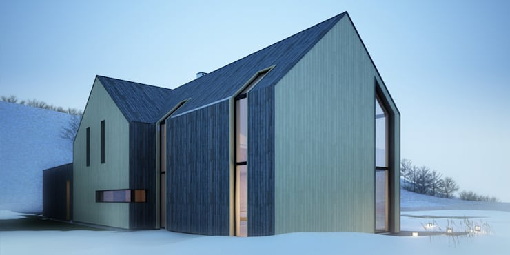 Projekty domów - House x_03: styl , w kategorii Domy zaprojektowany przez Majchrzak Pracownia Projektowa,