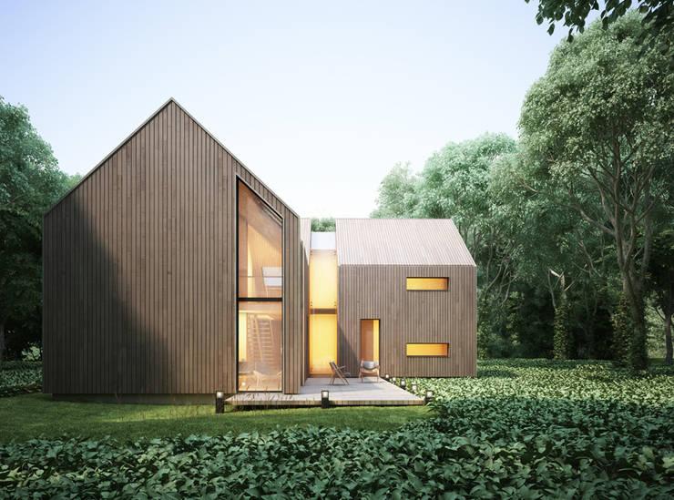 Projekty domów - House x03: styl , w kategorii Domy zaprojektowany przez Majchrzak Pracownia Projektowa,