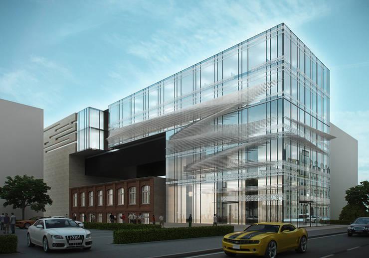 Budynek biurowy, Wrocław, koncepcja: styl , w kategorii  zaprojektowany przez Majchrzak Pracownia Projektowa