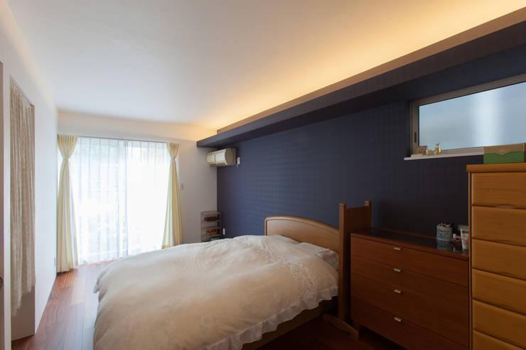 寝室: 株式会社 atelier waonが手掛けた寝室です。