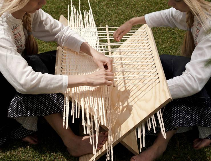 Plotkara: styl , w kategorii Balkon, weranda i taras zaprojektowany przez boso studio