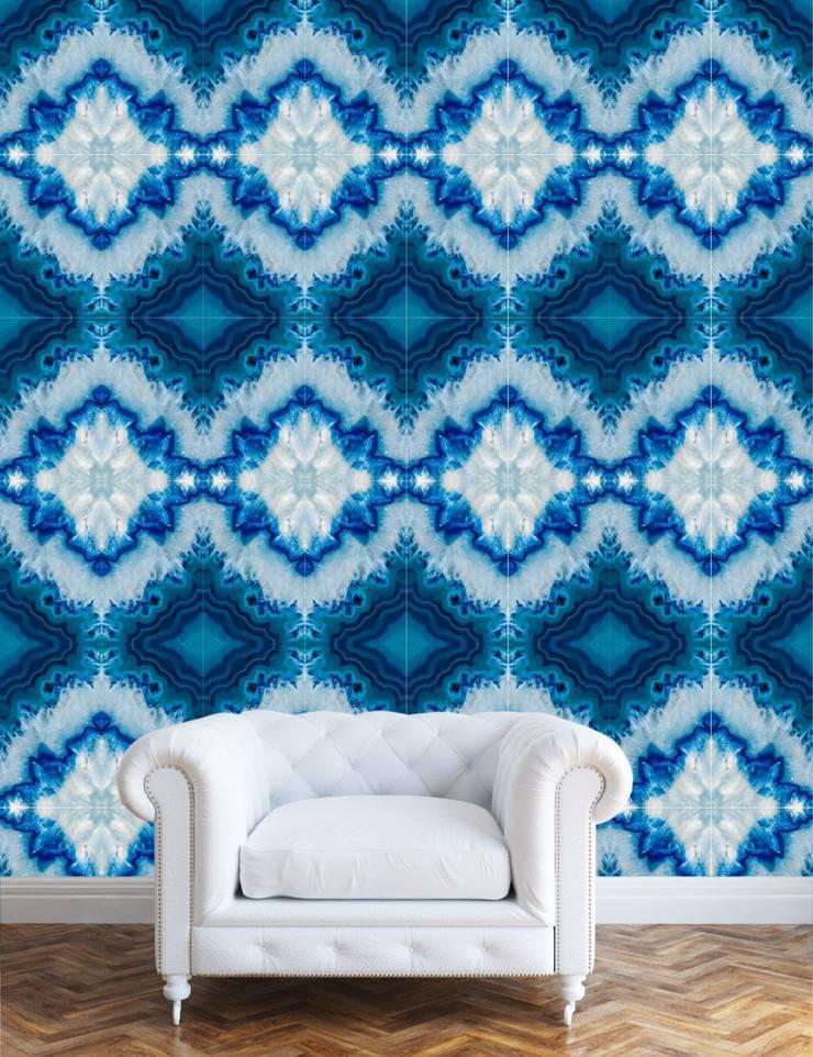 TAPETA BRAZILIAN BLUE: styl , w kategorii Ściany i podłogi zaprojektowany przez Eclectic Living