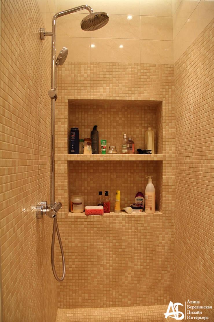 квартира на 120 кв.м в ЖК <q>Французский</q>: Ванные комнаты в . Автор – Алина Березинская