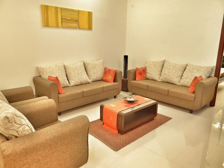 Living Room: modern Living room by Nuvo Designs