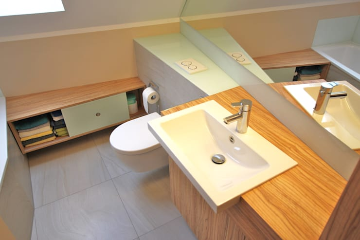 Badkamer door Innenarchitekturbüro Jürgen Lübcke