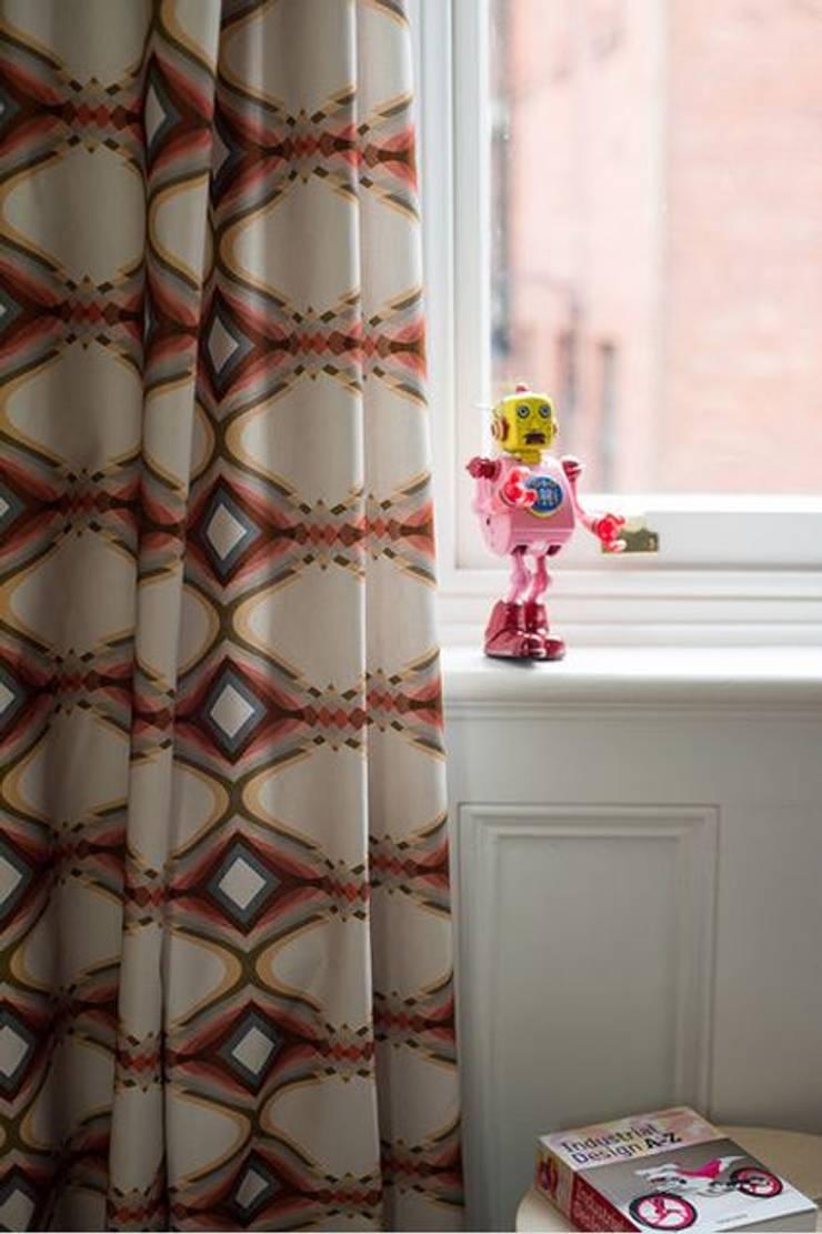tkaniny Parris Wakefield Additions: styl , w kategorii Okna i drzwi zaprojektowany przez Wzorywidze.pl