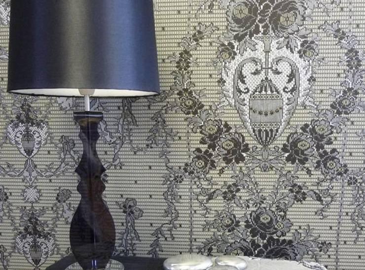 MYB - koronkowe tapety: styl , w kategorii Ściany i podłogi zaprojektowany przez Wzorywidze.pl