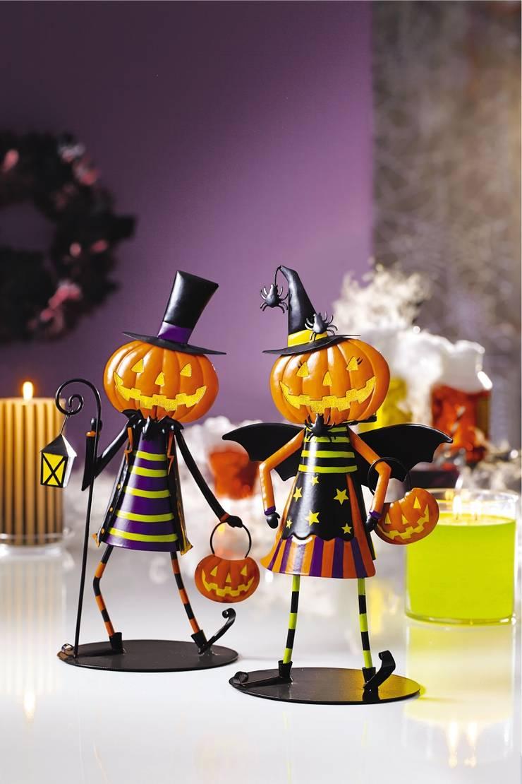 Jack & Jill Dancing Pumpkin Votive Holders de PartyLite Clásico