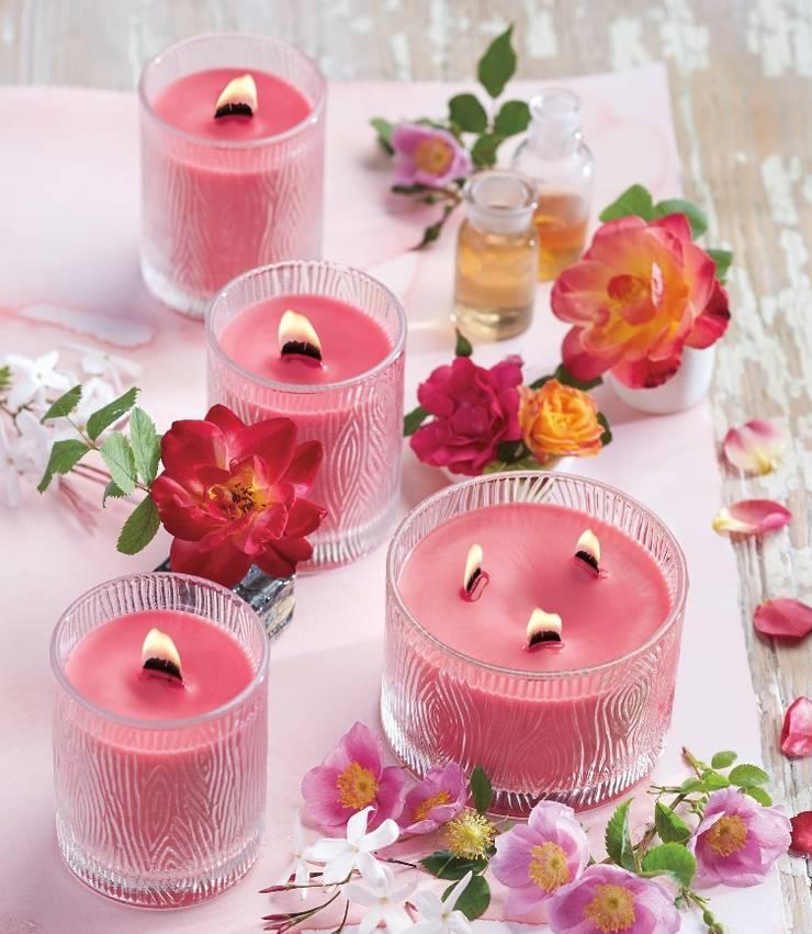 Romantic & Rosy frosted Jar candle de PartyLite Clásico