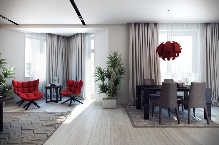 Трехкомнатная квартра в г.Новосибирск: Столовые комнаты в . Автор – Design Studio Details, Эклектичный
