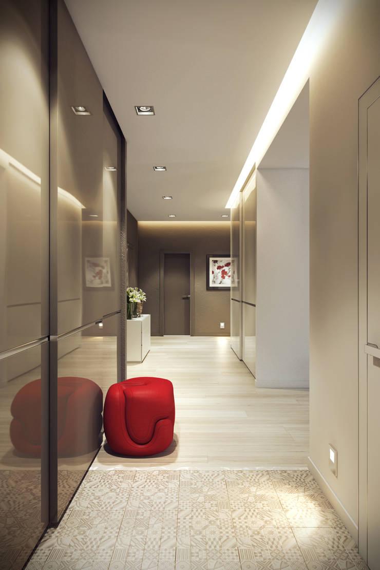 Трехкомнатная квартра в г.Новосибирск: Коридор и прихожая в . Автор – Design Studio Details, Эклектичный